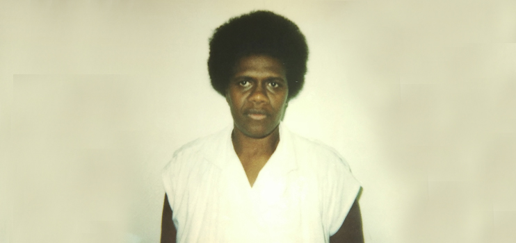 A portrait of Salome in 1980 when she worked in Santo.